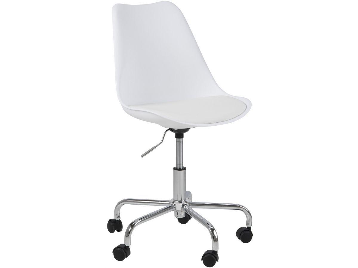 Krzesło biurowe Dima obrotowe białe (1) | Chair, Office
