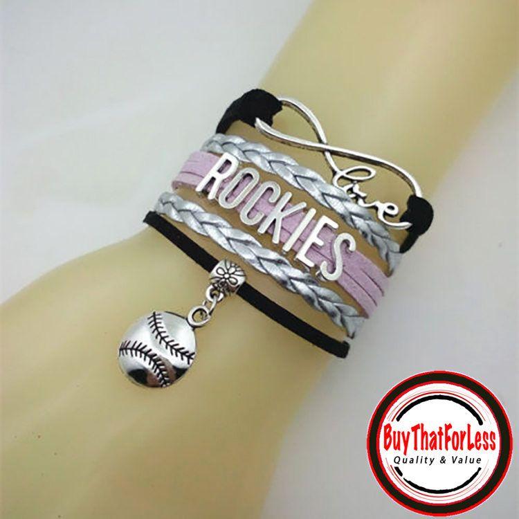 COLORADO ROCKIES Leather BraceletU Choose CHaRM **FReE U