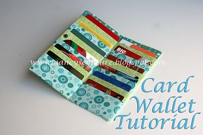 Nancy S Couture So Many Cards So Little Room Card Wallet Tutorial Wallet Tutorial Sewing Purses