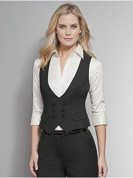 091fca0c02 love the vest look Colete Feminino Alfaiataria