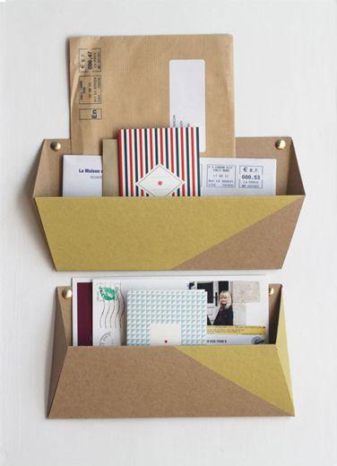 Mail Tri Postal Decoration Papier Tigre Carton Diy Rangements A Fabriquer Soi Meme Et Artisanat En Carton