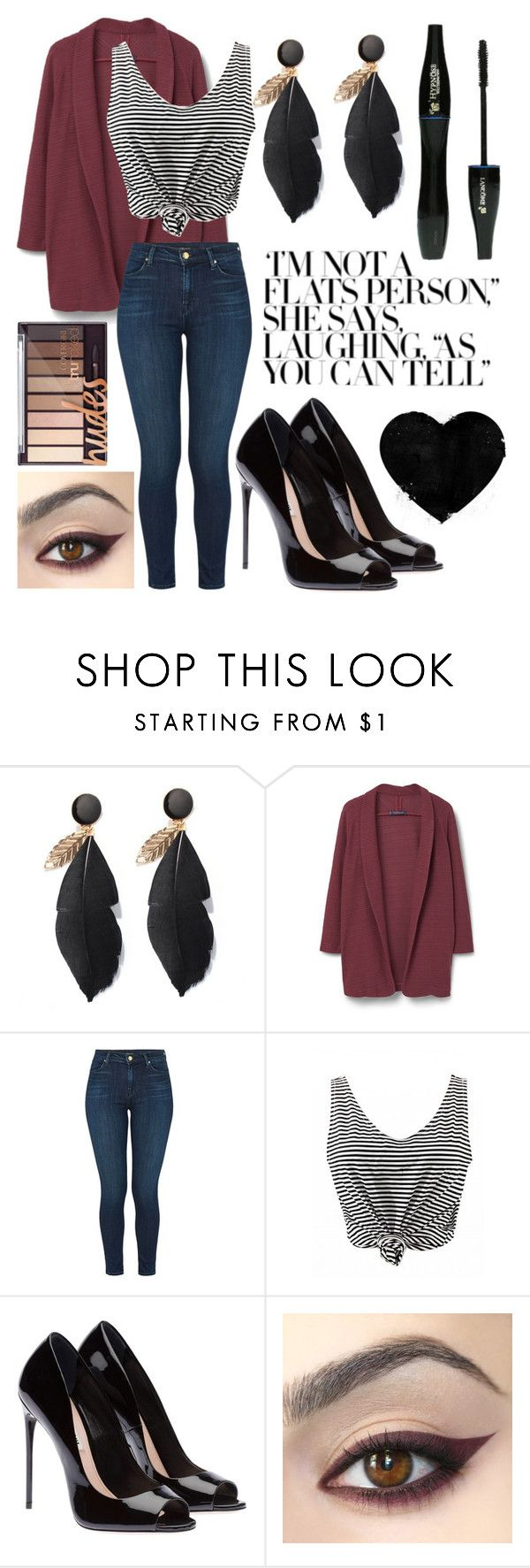 """""""Thirty"""" by haileyperryman ❤ liked on Polyvore featuring Violeta by Mango, J Brand and Lancôme"""