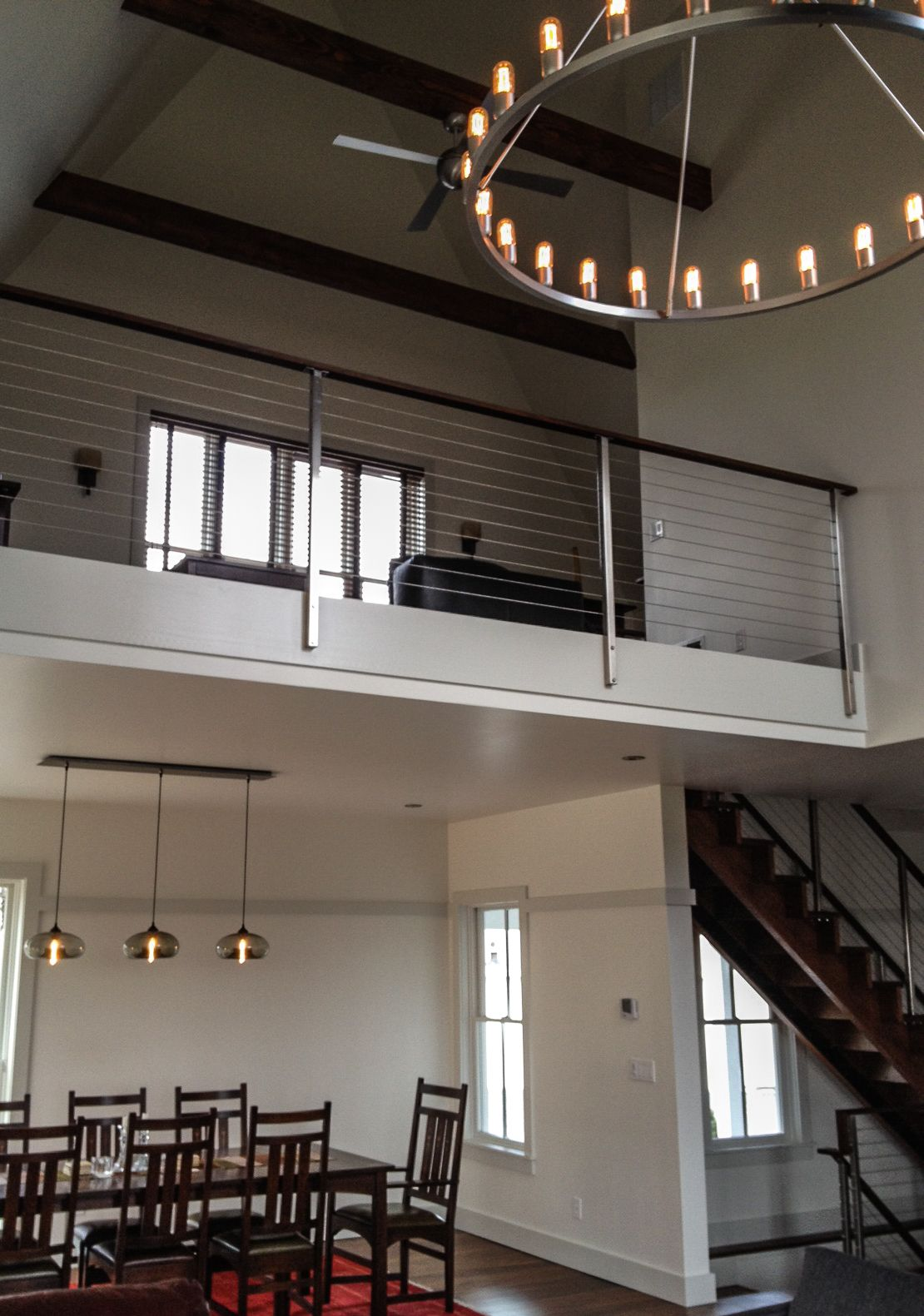 niche modern spark chandelier and a view of a private residence mezzanine nichemodern