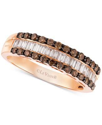 Le Vian Chocolatier® Diamond Band (3/4 ct. t.w.) in 14k Rose Gold   macys.com