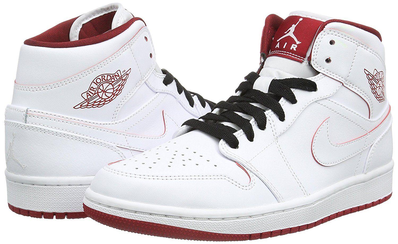 83d5592a4391e Amazon.com  Nike Men s Air Jordan 1 Mid Basketball Shoe  Nike  Shoes   jordan  basketball  shoe  sports  style  fashion  men  boys  nike  running   clothing ...