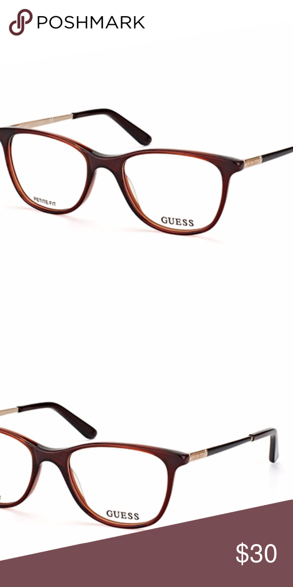 0fc94300979c Guess Eyewear GU 2566 - Petite Fit Brand New Guess Eyewear! Plastic frame  with metal temples. Brown with gold accents. Petite Fit Guess Accessories  Glasses
