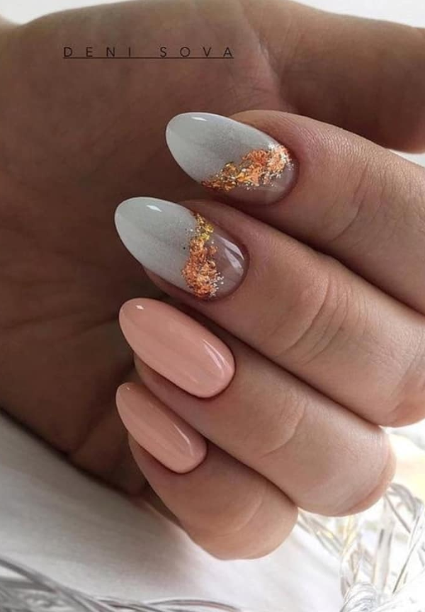 54 Perfect Short Acrylic Almond Nails Design For This Summer In 2020 Almond Nails Designs Short Almond Nails Classy Almond Nails