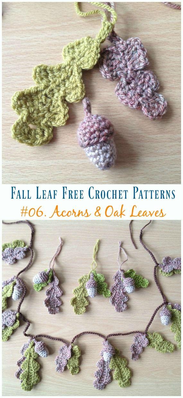 Autumn Leaf Free Crochet Patterns #garlandofflowers