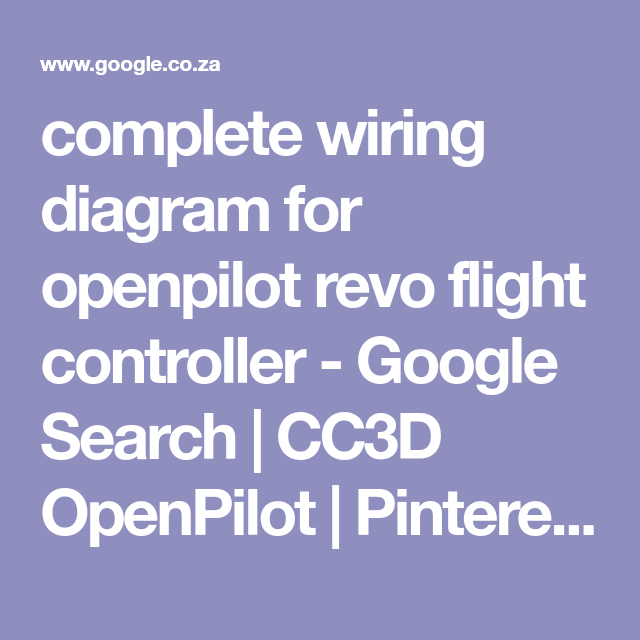 complete wiring diagram for openpilot revo flight controller ... on