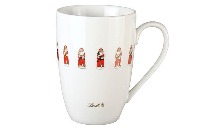 Lindt: Weihnachtsmann-Tasse