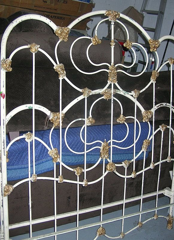 19th century painted victorian iron bed frame los angeles ca - Bed Frames Los Angeles