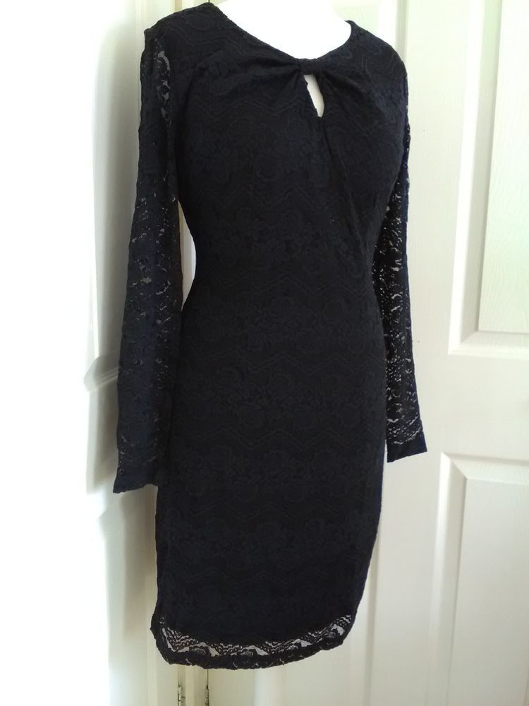 9cb626d2 ladies NWT Yumi uk size 10 - 12 stretch black lace dress #fashion #clothing