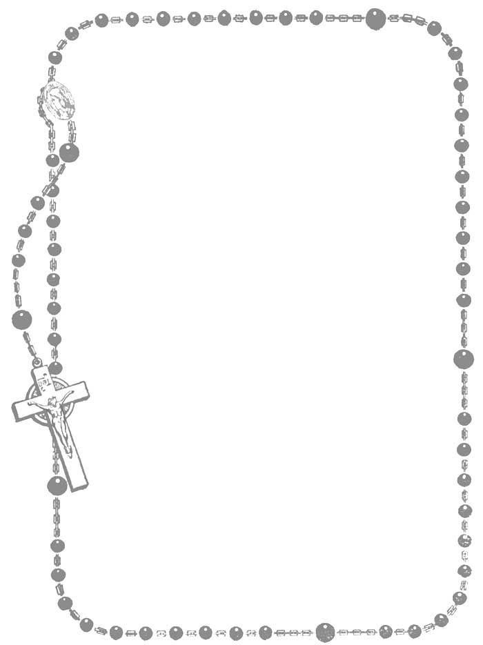 Coloring Book Rosary Frame Light Clip Art Borders Rosary Coloring Books