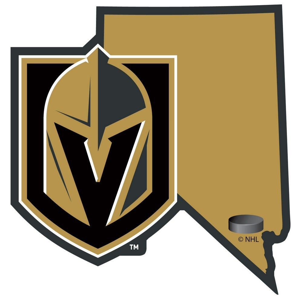 Las Vegas Golden Knights Home State Decal Hhsd165 Hockeynhlteamsdecals Vegas Golden Knights Golden Knights Golden Knights Hockey