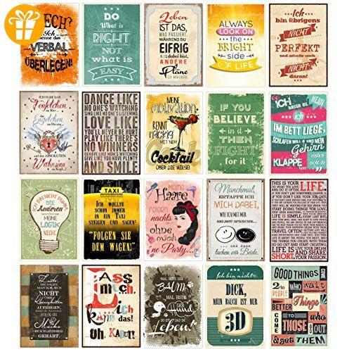 20 spruchkarten 2 retro postkarten mit lustigen spr chen 20 verschiedene spr che 14 8 x 10 5. Black Bedroom Furniture Sets. Home Design Ideas