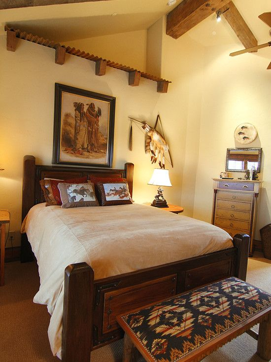 Western Bedroom Design, Pictures, Remodel, Decor and Ideas | Ranch ...