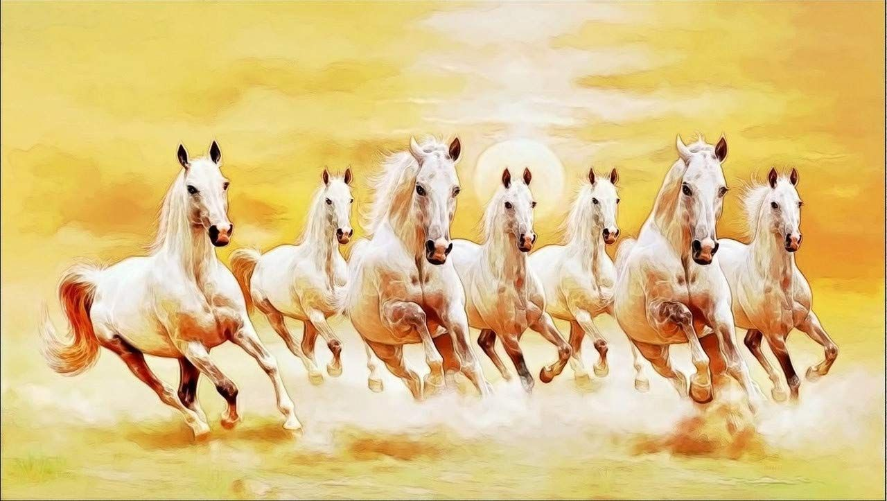 7 Running Horses Wallpaper Hd 48 Image Collections Of Wallpapers White Horse Painting Horse Wallpaper Horse Wall Art Canvases