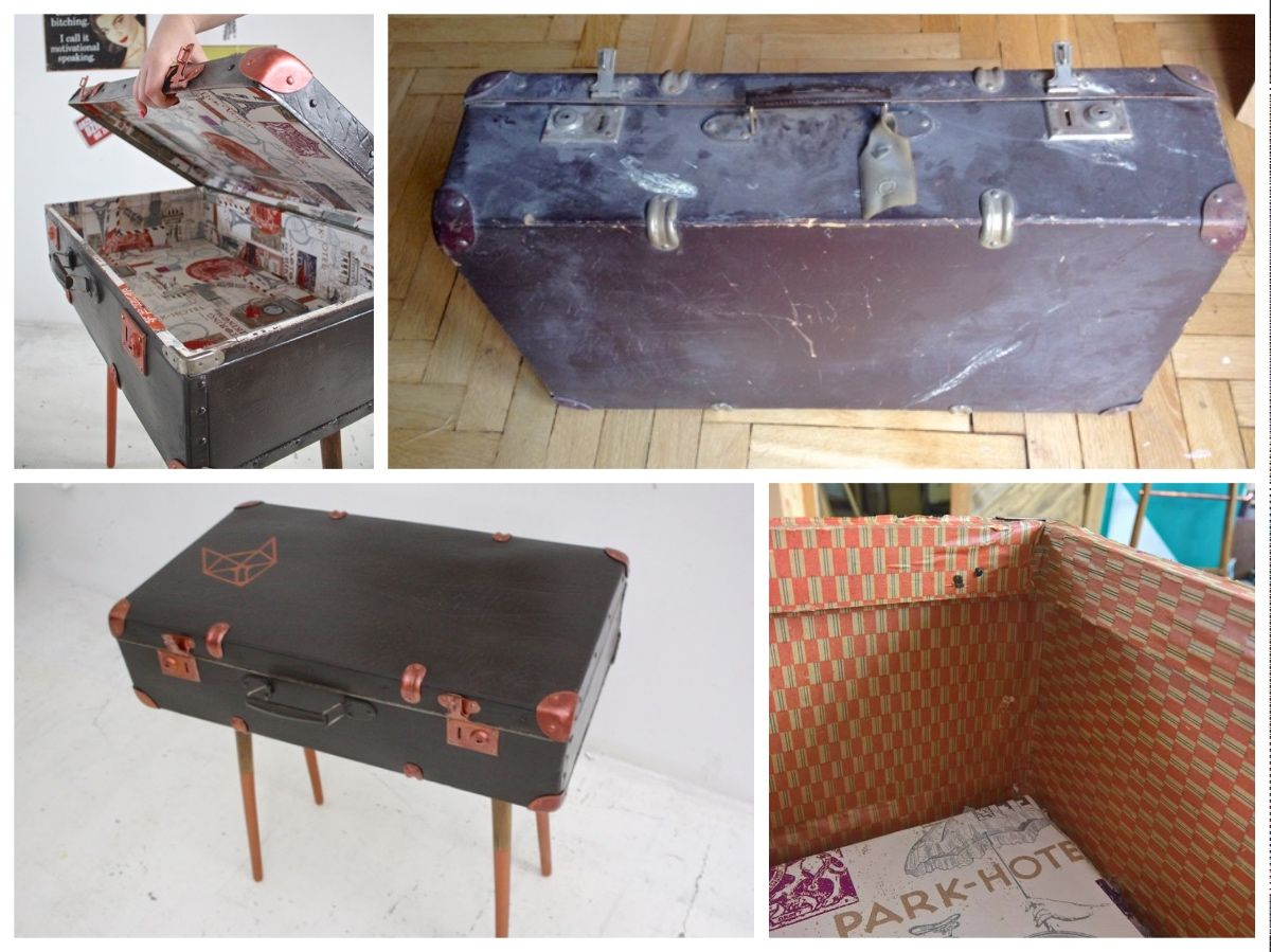 Diy suitcase table - Diy Table From Luggage Suitcase Table Craft From Handy Girls