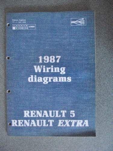 Renault 5 & Extra Wiring Diagrams Manual 1987 7711081584 NT8025 # | Renault  5, Renault, Repair manualsPinterest