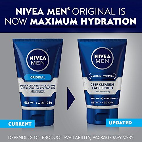 NIVEA Men Maximum Hydration Deep Cleaning Face Scrub 4.4 oz. Freeze 24-7 Anti-Aging Eye Serum, 0.5 oz (Pack of 6)