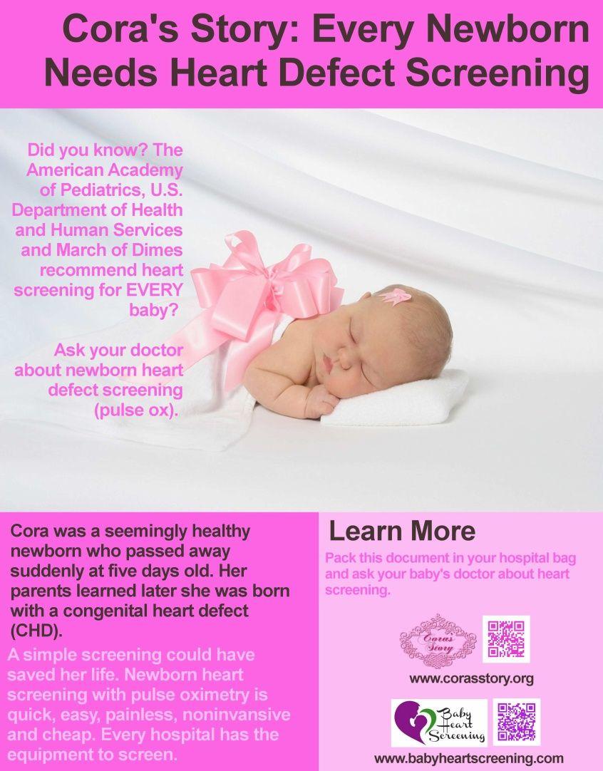 Cora Story: Every Newborn Needs Heart Defect Screening ...