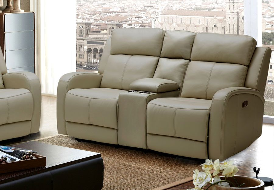 luv reclining leather loveseat veneto con brown lr loveseats console product