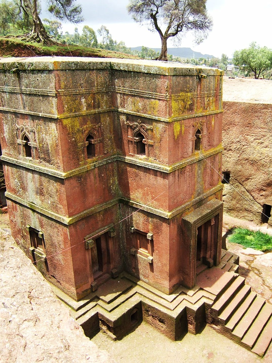 Lalibela, Ethiopia. Church carved out of solid rock in the 12th-13th century