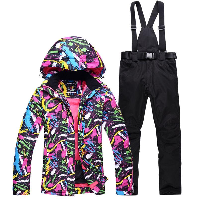 NEW Skiing suits Jackets pants women Snowboarding Sets Female winter  Sportswear snow ski jacket Breathable Waterproof 610aeca03