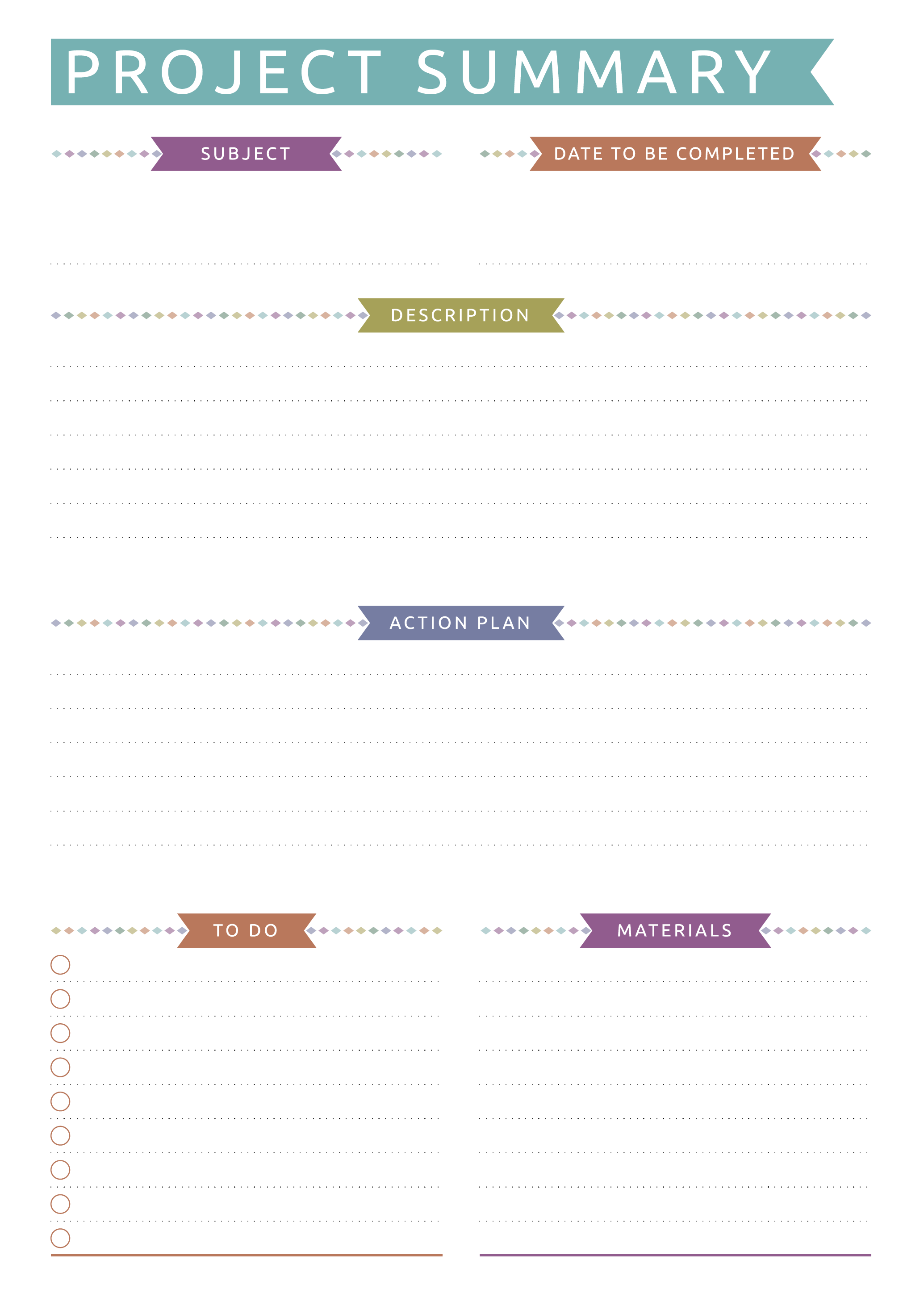 Project Planning Casual Style Student planner