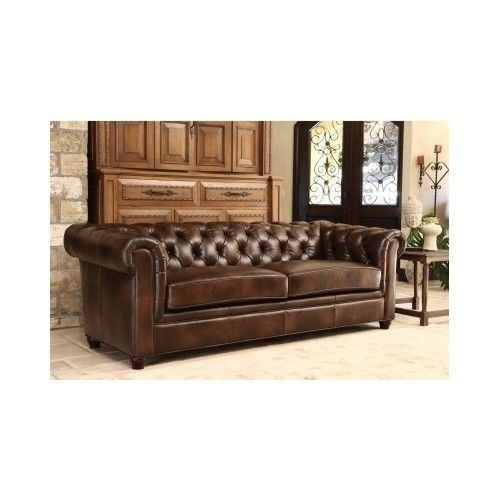 Italian Leather Sofa Upholstered Tufted Elegant Oversized Luxurious Couch Brown Abbysonliving Tuscan Top Grain Leather Sofa Leather Sofa Brown Leather Sofa
