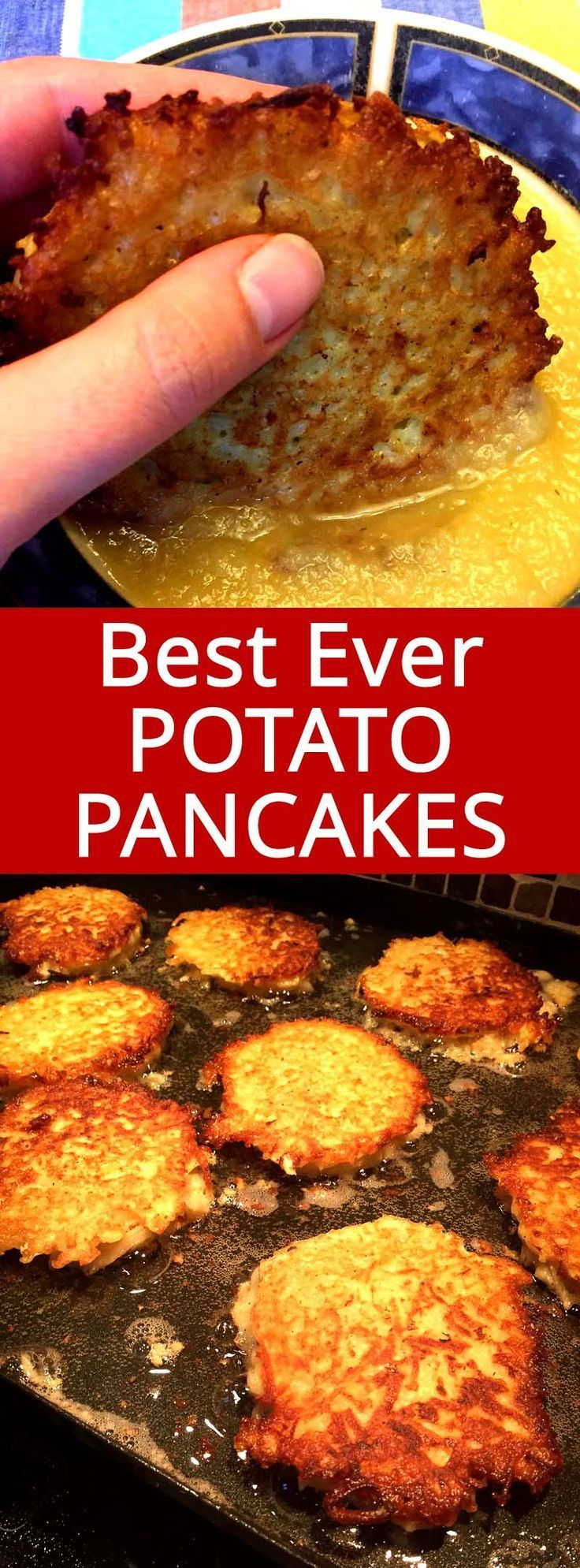 Potato Pancakes Latkes Recipe Potato pancakes, Jewish