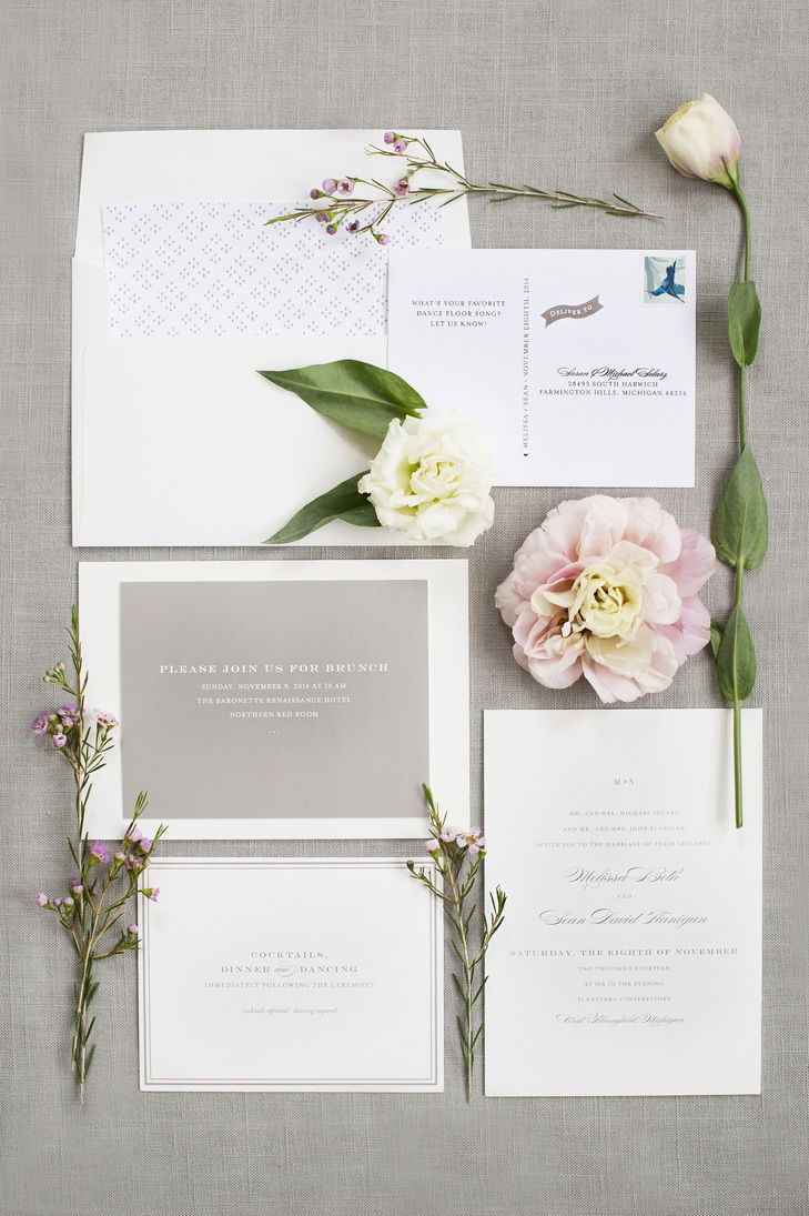Simple Gray and White Invitation Suite from Minted | KELLY SWEET ...