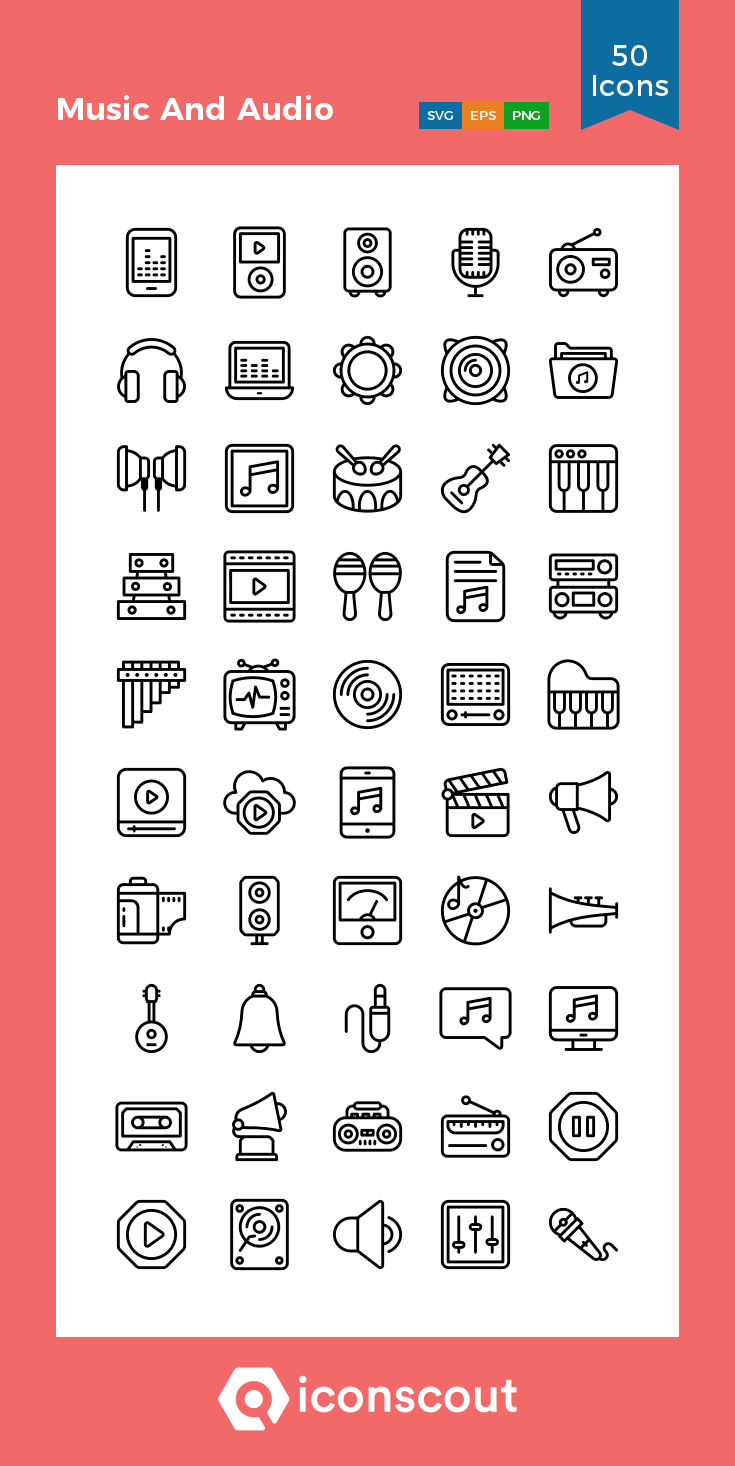 Download Music And Audio Icon Pack Available In Svg Png Eps Ai Icon Fonts In 2021 Icon Icon Pack Audio