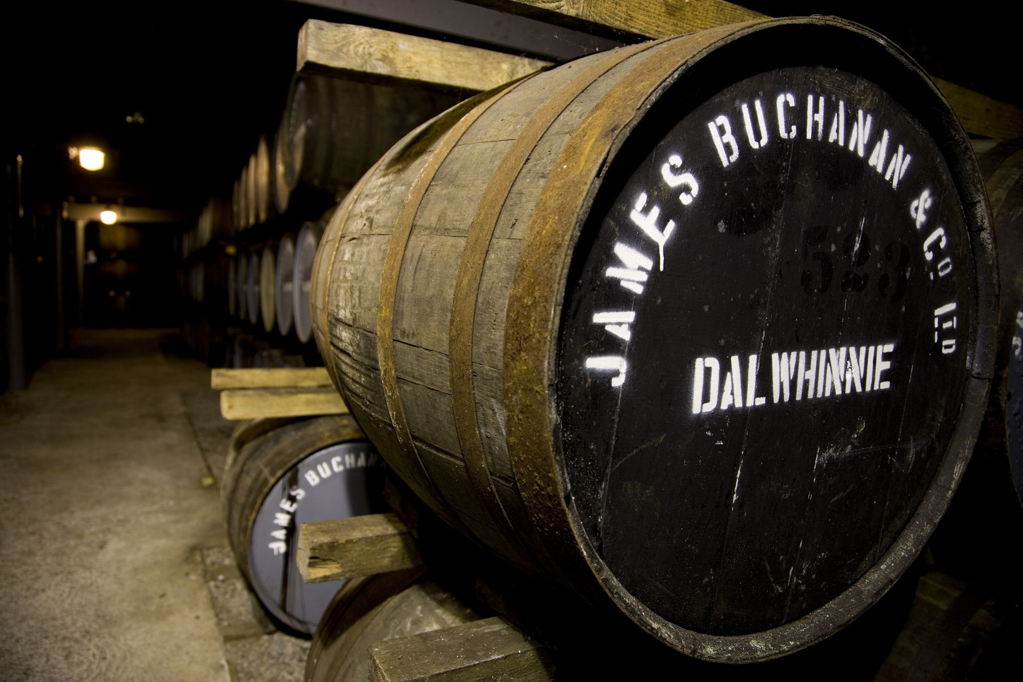 Warehouse at the Dalwhinnie Distillery