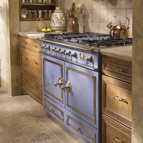La Cornue Cornufe 110 Range Provence Blue La Cornue Retro Kitchen Appliances Kitchen Design