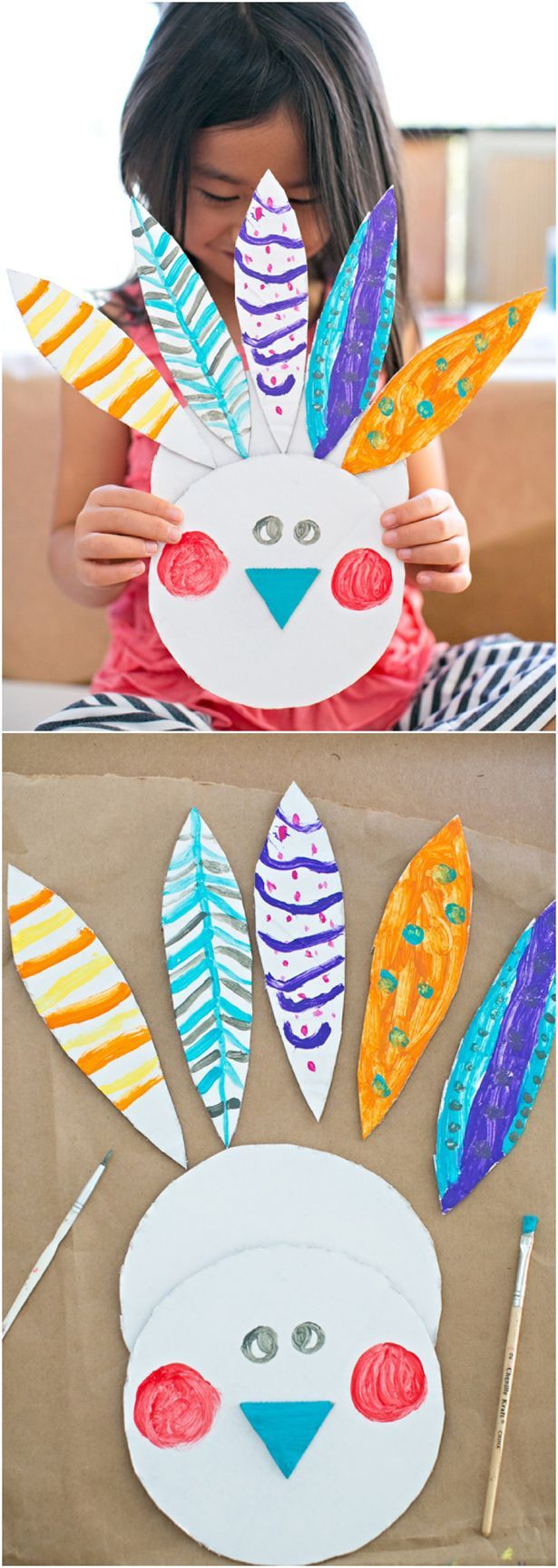 easy painted cardboard turkey craft cute thanksgiving art project