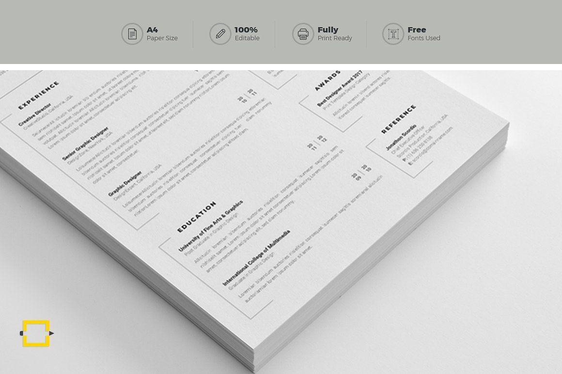 Resume Clean resume, Print templates, Resume