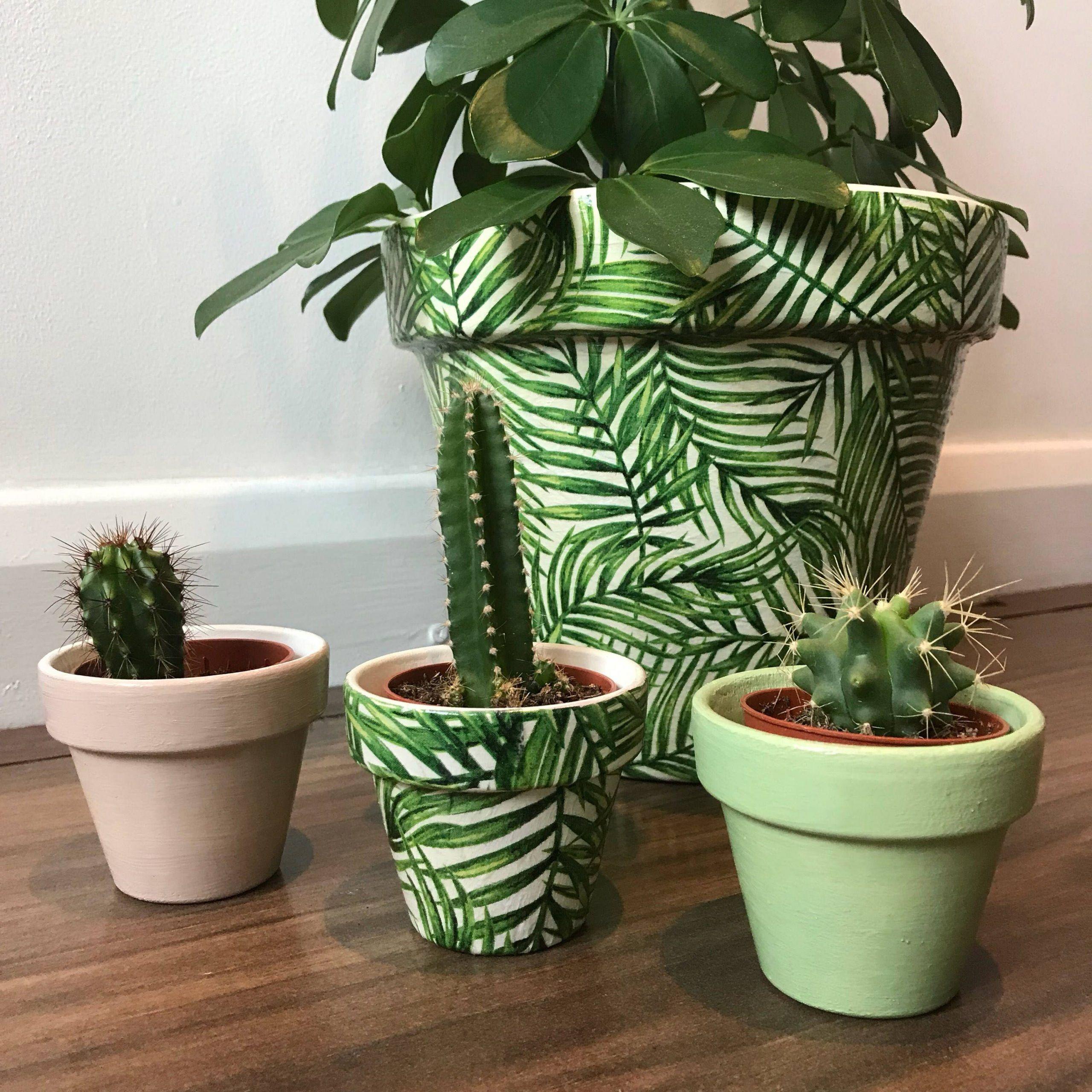 Palm Leaf Planter Pot