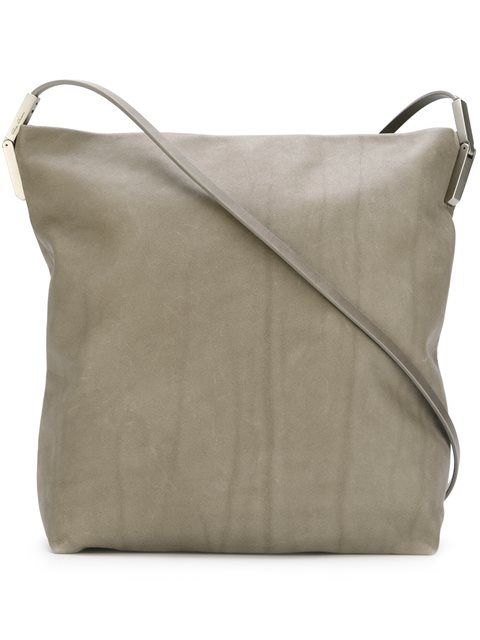 RICK OWENS Large Textured Crossbody Bag.  rickowens  bags  shoulder bags   leather  lining  crossbody  cotton    80cd7936b610a