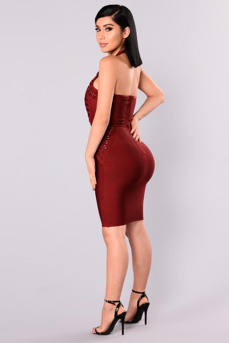 a0af43c626 Peggy Bandage Dress - Burgundy