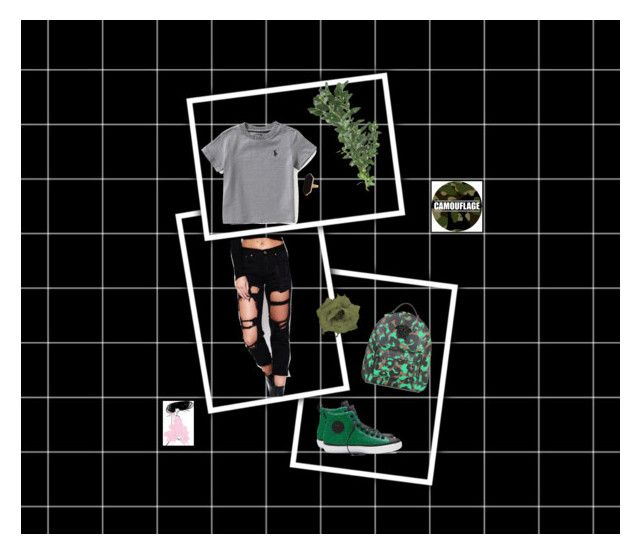 """""""Untitled #59"""" by nuraypva on Polyvore featuring WithChic, Converse, Versace, Ralph Lauren and Jaeger"""