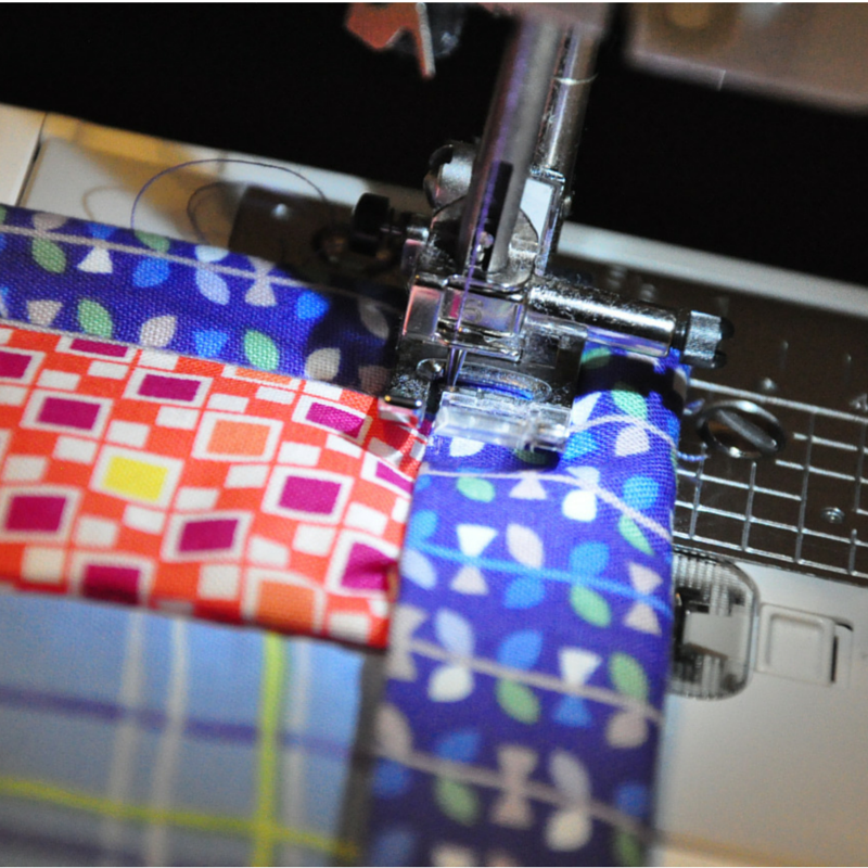Finish An Easy Self Binding Quilt