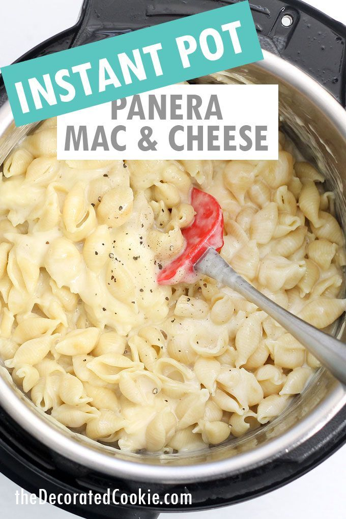THE BEST INSTANT POT PANERA MAC AND CHEESE recipe-- Creamy, delicious, ready in minutes. Perfect pressure cooker macaroni and cheese.