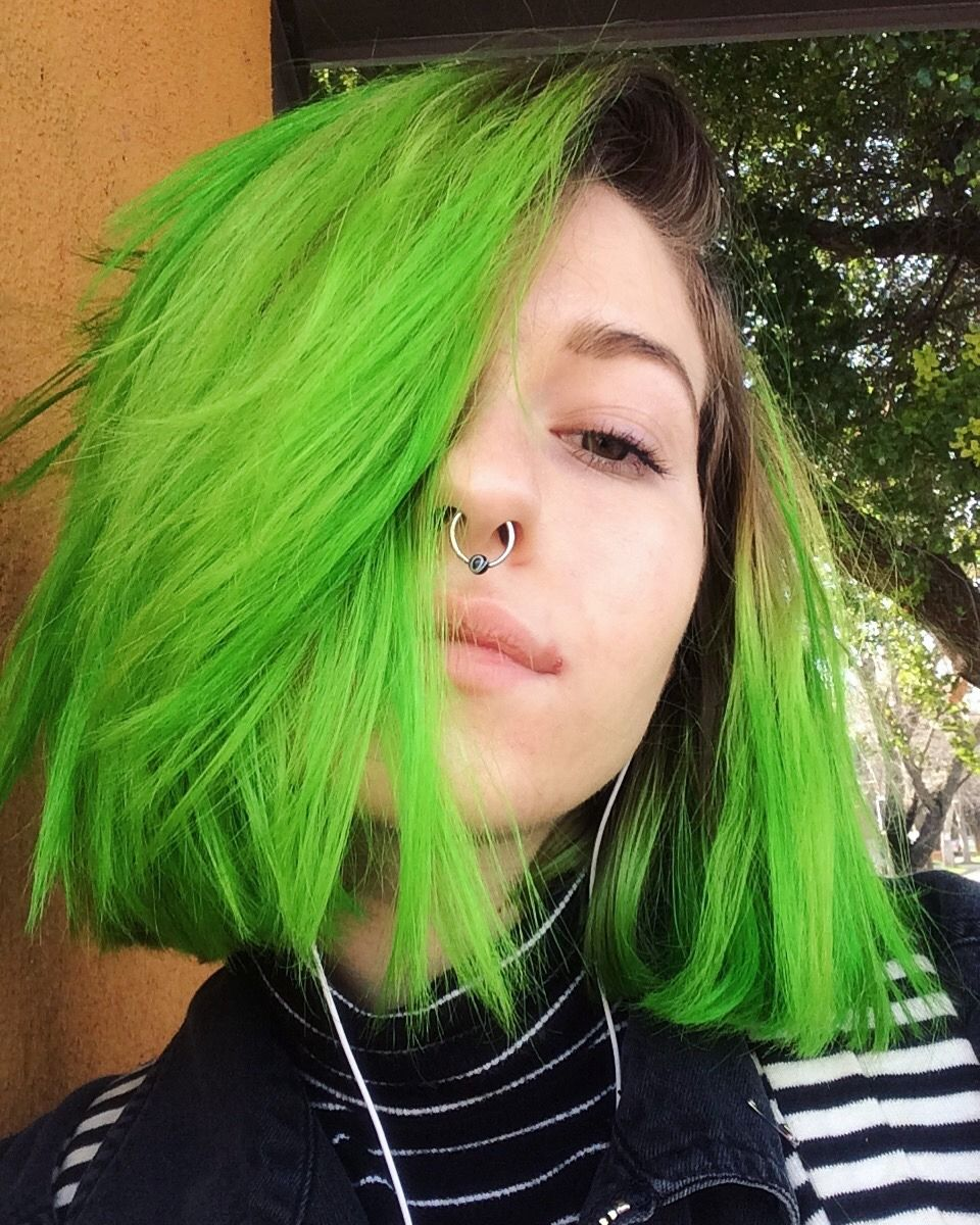 goodhairday | dyed hair in 2019 | dyed hair, neon green hair