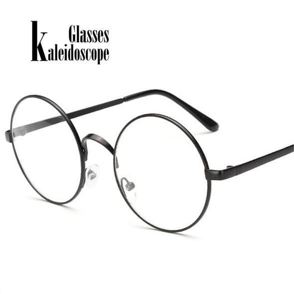 f5c9de776e Kaleidoscope Glasses Men Women Glasses Frames Metal Round Spectacle With  Clear Lens Optical Frame Transparent Eyeglasses