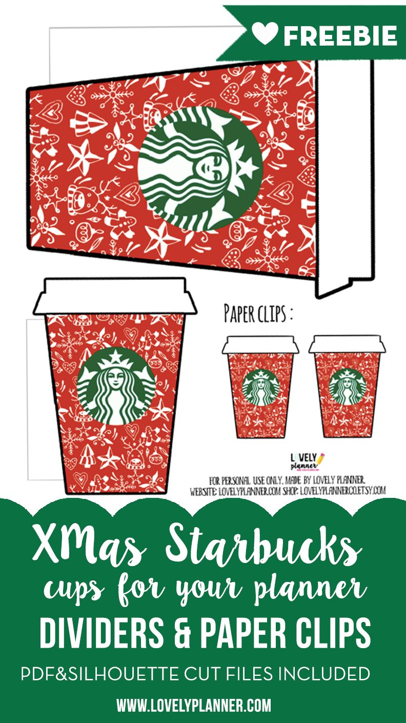 Free printable starbucks planner accessories advent calendar free printable christmas starbucks planner accessories paper clips dividers die cuts gift negle Choice Image