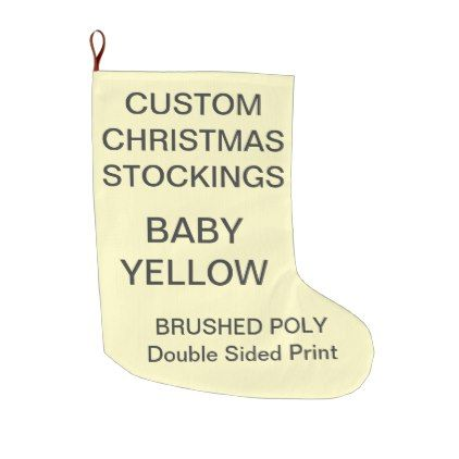 Custom Large BABY YELLOW Christmas Stocking - christmas stockings ...