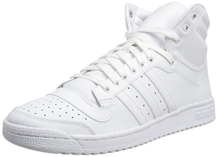 Top Ten Hi Basketball Shoe, White/White