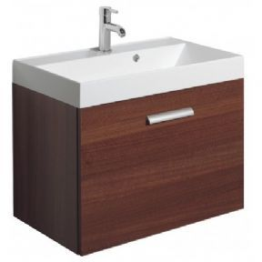 Bauhaus Design Walnut 70 Single Drawer Basin Unit