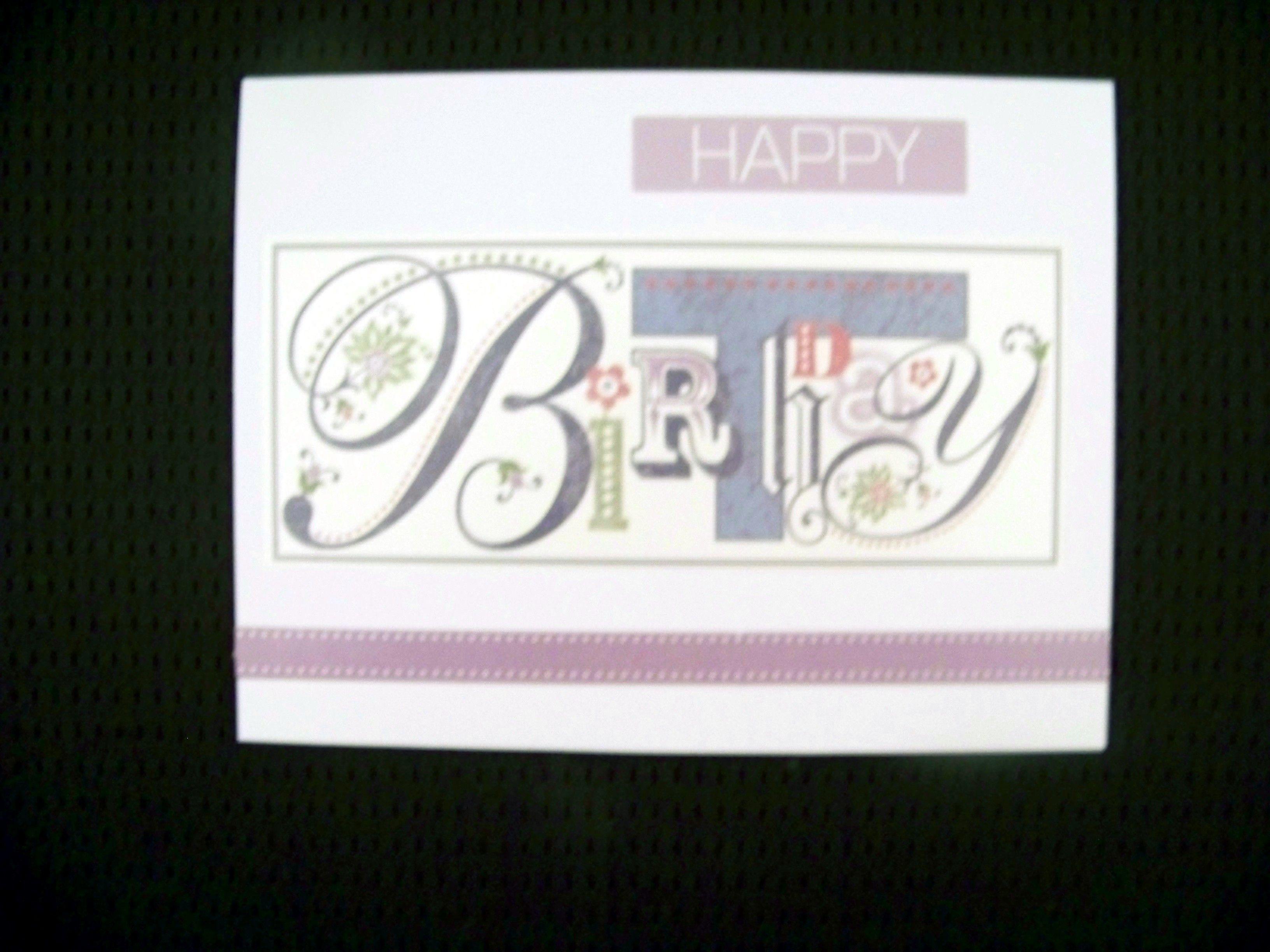 Simple Birthday card